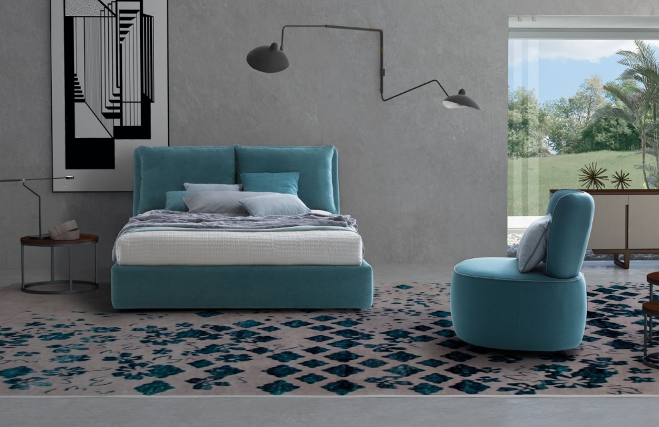 Letto Contenitore Design.Letto Imbottito Firenze Design Moderno Con Contenitore